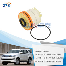 oil filter wholesalers Canada - ZUK 10PCS Lot Fuel Filter Diesel Filter Element Kit For Toyota HILUX 2012-2015 KUN16 KUN26 HIACE 2017 FORTUNER 12-15 23390-0L050