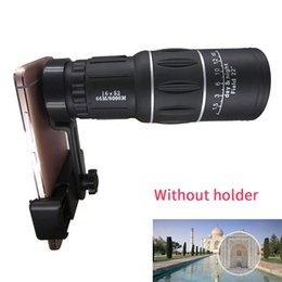 16x52 Hd Monocular Telescopes Australia - 16X52 Waterproof Hiking Phone Clip Telescope Dual Focus Monocular Outdoor HD Wide-angle Phone Accessory Camping Day Night Vision