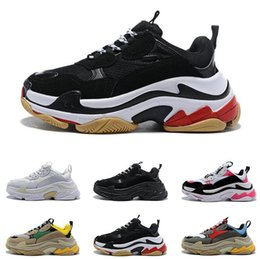 Best Canvas Prints Australia - hot best Casual shoes quality Fashion neaker Triple S Casual Dad Shoes for Men's Women Beige Black Ceahp Sports Designer Shoe Size 36-45