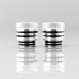 tfv8 wide bore drip tips Australia - Glass SS Wide Bore Drip Tip Mouthpiece Vape 810 510 Thread Stainless Steel Drip Tips for TFV8 TFV12 Prince Big Baby DHL
