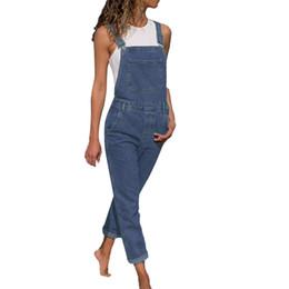 Women Fashion Jumpsuit Australia - 2018 Women's Fashion Denim Bib Pants Sexy Long Rompers Bib Pants Jumpsuits Pants For Women Slim Ladies Jean Y19060501