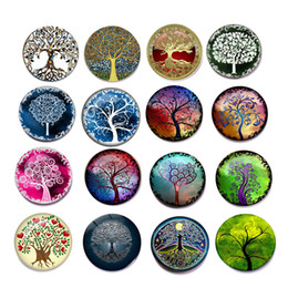 $enCountryForm.capitalKeyWord NZ - 16 Styles Beautiful Tree of Life Glass Refrigerator Magnets Funny Fridge Stickers for Office, Calendar, Whiteboard Magnets Home Decor M103F