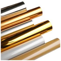 $enCountryForm.capitalKeyWord Australia - DIY Gold silver gold foil aluminum TV background wall mirror sticker self-adhesive wallpaper waterproof moisture-proof stereo wall sticker