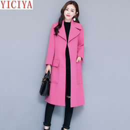 $enCountryForm.capitalKeyWord NZ - YICIYA women pink jacket autumn winter wool coat plus size large big long blazet suits overcoat slim elegant outerwear clothes
