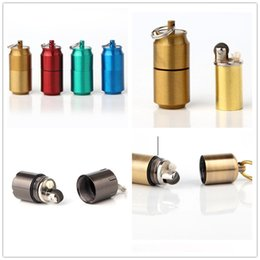 uses oil NZ - Cans Gasoline Lighter Capsule Kerosene Lighter Inflated Keychain Oil Grinding Wheel Lighters 3 Styles Choose For Kitchen Camping Smoking Use
