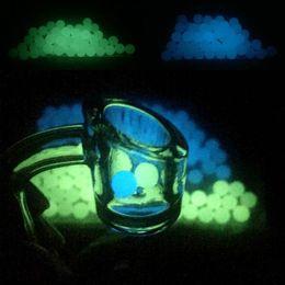 Clear Balls Australia - OD 6mm 8mm Luminous Quartz Pearls Ball Luminous Glowing Blue Green Clear Quartz Pearl For Quartz Banger Nails Glass Bongs