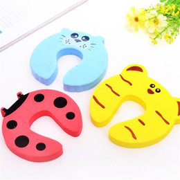 Door Holder Stops Australia - New Care Child kids Baby Animal Cartoon Jammers Stop Door stopper holder lock Safety Guard Finger 7 styles ST414