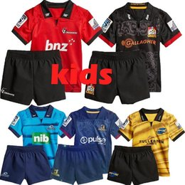 38a779ba063 2018 New Zealand Club rugby jerseys KIDS nrl jersey Crusaders Highlanders  Chiefs blues Hurricanes home NRL National Rugby League shirt