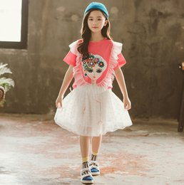 3345cc0640b3 Cute Big Girl Outfits Australia - Big kids outfits girls flowers beauty  print lace falbala fly