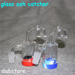 pyrex bongs NZ - New 2 Inch Glass Ash Catcher with 14mm quartz nails Silicone Container Reclaimer Thick Pyrex Ashcatcher for Glass Water Bongs