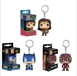 Figures Australia - Funko Pocket POP Keychain - The flash Batman DC Vinyl Figure Keyring with Box Toy Gift Good Quality Free Shipping 3 style