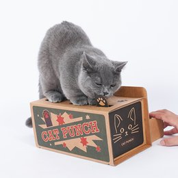 $enCountryForm.capitalKeyWord Australia - Cat Punch Scratch Pet Toy Supplies Interactive Mole Mice Game Toy DIY Mouse Pop Up Puzzle For Cats Treat Exercise Dog Cat