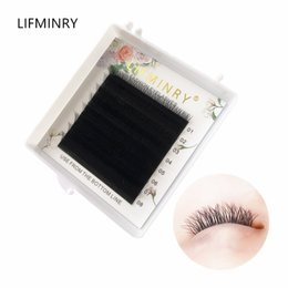 weaving eyelashes NZ - 1case high-quality faux mink Y shape volume eyelash extension YY false eyelashes weave eyelash soft natural Make up tools