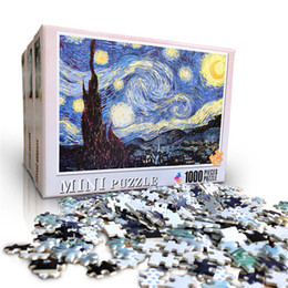Multiple styles mini picture puzzles 1000 pieces wooden Assembling puzzles toys for adults children kids games educational Toys on Sale