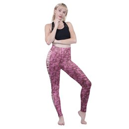 fashion lady sports wear 2019 - Girls High Waist Leggings On Wednesdays We Wear Pink 3D Graphic Full Print Soft Trousers Women Runner Pants Lady Sport P
