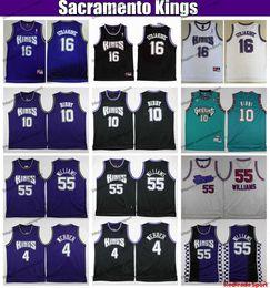 Jason williams Jerseys online shopping - Mens Vintage SacramentoKings White Chocolate Jason Williams Chirs Webber Bibby Peja Stojakovic Basketball Jersey Stitched Shirts