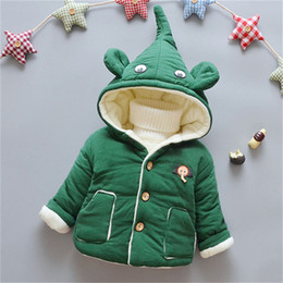 Hooded Winter Down Parkas Australia - good quality baby boys cotton coats infant cartoon hooded outerwear winter thick fleece velvet jackets toddle snowsuit down parkas