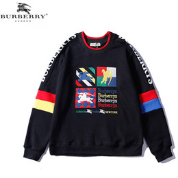 clothing printing london 2019 - Mens Designer Hoodies Classic Colorful Letter Embroidery Cotton England Of London BUR Hoodie Women Clothes Jackets cheap