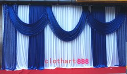3M high*6M wide backdrop with swags wedding backcloth stage curtain (10ft*20ft) funeral backdrop with Sequins draps