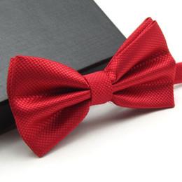 $enCountryForm.capitalKeyWord Australia - Fashion Bowties Groom Men Colourful Plaid Cravat gravata Male Marriage Butterfly Wedding Bow ties 20 Colors Solid