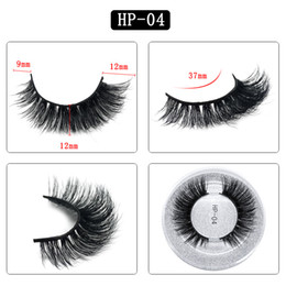 Single False Eyelashes Australia - 3D mink hair false eyelashes HP04 NEW women's single pair round box packaging eyelashes Europe and the United States thick natural