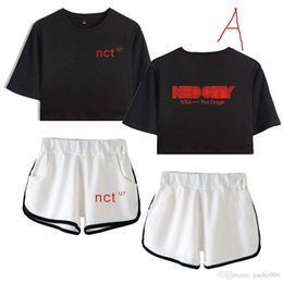 Shirts Low Prices Australia - Factory direct supply price low quality excellent 2019 new album Nct 127 surrounding beautiful beauty navel short-sleeved T-shirt shorts sui