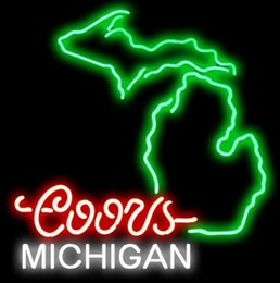 Coors Beer Neon Sign Australia - New Star Neon Sign Factory 19X15 Inches Real Glass Neon Sign Light for Beer Bar Pub Garage Room Coors Michigan.