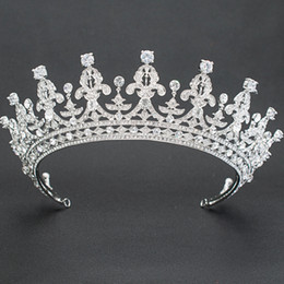 Real Crystal Crowns Tiaras Australia - Real Austrian Crystals Rhinestone Wedding Bridal 2 3 Round Tiara Crown Hair Accessories Jewelry 05365L C18122501