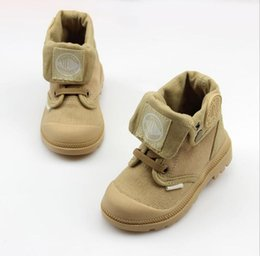 $enCountryForm.capitalKeyWord Australia - 2019 Autumn New Kids Sneakers High Cildren's Canvas Shoes Boys And Girls Child Baby Boots Casual Military Boots Size21-37 Y19051303