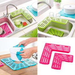 $enCountryForm.capitalKeyWord Australia - Practical kitchen storage Sink Drain rack Net Filter Mat Dishwasher Cup Drain Pad kitchen