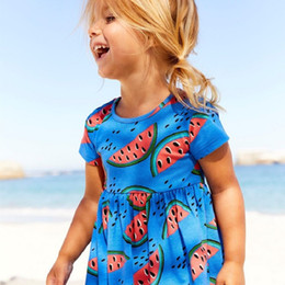 China Toddler Girls Summer Dresses Unicorn Printed Fashion Kids Flowers Party Dress for Kids Girl Short Sleeve Princess Dress Baby Girl Clothing supplier tutu clothing suppliers