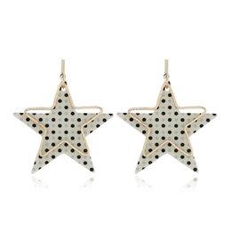 $enCountryForm.capitalKeyWord Australia - Alloy Hollow Spot Star Pentagram Dangle Earrings Drop Earrings Fashion Jewelry Accessories Gifts For Women Party Decoration