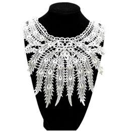 b2590537db 1pcs Lace Collar Lace Fabric Embroidered Neckline Trim Applique  Embellishments Vintage Trims Wedding Dress Accessories  XH39-43
