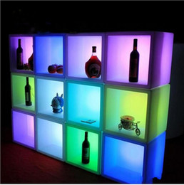 Modern Display Cases Australia - New arrivial led furniture Waterproof Led display case 40CMx40CMx40CM colorful changed Rechargeable cabinet bar kTV disco party decorations