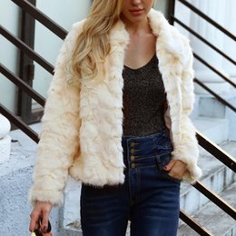 $enCountryForm.capitalKeyWord NZ - 2018 Winter Women's New Style Fashionable Short Faux Fur Coat Soild Keep Warm Comfortable Turn-down Collar Zipper Feathers