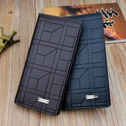 $enCountryForm.capitalKeyWord NZ - Factory wholesale men bag fashion plaid folding short wallet character long wallet business folding leather wallet multifunctional coin purs