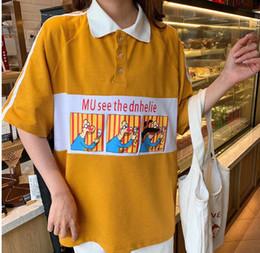 $enCountryForm.capitalKeyWord NZ - Womens Designer Polo Shirts Summer Brand Casual Contrast Color Women Clothing Womens Luxury Crew Neck High Quality Tops Tee