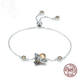 $enCountryForm.capitalKeyWord NZ - New Fine Jewelry 925 Sterling Silver Link Chain Bracelet For Women Wedding Jewelry Gifts CZ Zircon Crystal Insect Bracelet