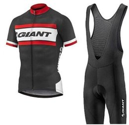 green giant clothing UK - 2020 Breathable GIANT Cycling Jersey Bike Wear Summer style short sleeve Tops bib shorts sets Breathable quick-dry Bicycle Clothes A62354888