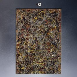 "graffiti art canvas prints Australia - Jackson Pollock ""Number 5"" 1948 Handpainted & HD Print Home Decor Wall Art Graffiti Abstract Oil Painting On Canvas High Quality jk11"