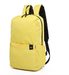 Plain Yellow Backpack Australia - Colorful Mini Backpack canvas bag bags for Women Men Boy Girl Daypack Water Resistant Lightweight Portable Casual 7 colors