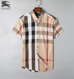 Wholesale fitting dress shirt men for sale – dress Brand Men s Business Casual shirt mens long sleeve striped slim fit camisa masculina social male T shirts new fashion man checked shirt C10