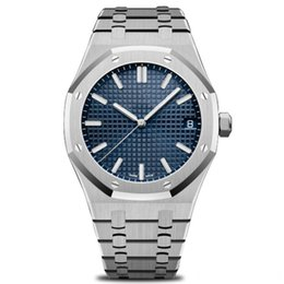 Zone green battery online shopping - New Luxury mens automatic watches fashion stainless steel hi quality modern wristwatches Rose Gold Royal Oak Watch mm big size