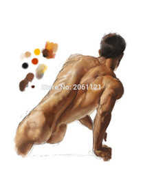 Nude Body Wall Art Australia - high quality hand painted modern figure wall canvas art nude man oil painting body painting
