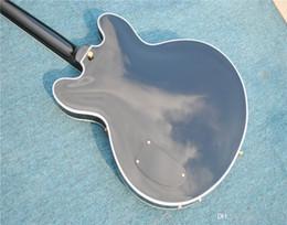 Bass guitar knoBs online shopping - OEM Sales Custom Jazz Bass Hollow Thin Body Mahogany Body Neck Closed Knob String Winder Chinese Guitar Factory