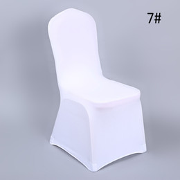 $enCountryForm.capitalKeyWord Australia - YRYIE 20Pcs Wholesale White Universal Spandex Stretch Banquet Chair Slipcovers For Wedding Party Chair Protector Cover