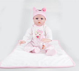 $enCountryForm.capitalKeyWord Australia - 22inches Silicone Lifelike Reborn Baby Doll Real Touch Newborn Babies with Clothes Kids Playmate Best Birthday Xmas Gift