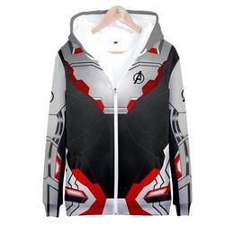 Zipper 3d Australia - 2019 Superhero The Avengers 4 3D Hoodies Pullover Sweatshirt Hoodie Zipper Streetwear Men Women Casual Unisex Boys Polluver