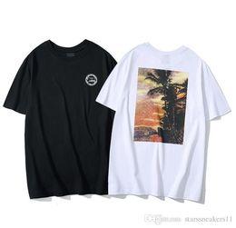 Großhandel Designer T Shirts Herrenbekleidung Marke Tops T-shirt Mode Sommer Flut Braned Buchstaben Gedruckt Luxus Männer Hemd-