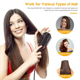 $enCountryForm.capitalKeyWord NZ - New Hot Air Brush One Step Hair Dryer and Styler Multi-functional Straightening & Curly Hair Brush With Negative Lons
